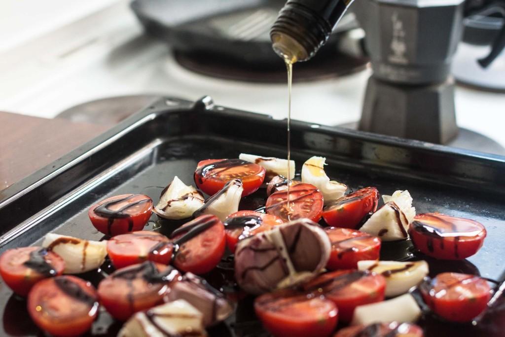Pastamaniac: Pasta mit gerösteten Ofen-Tomaten und Knoblauch