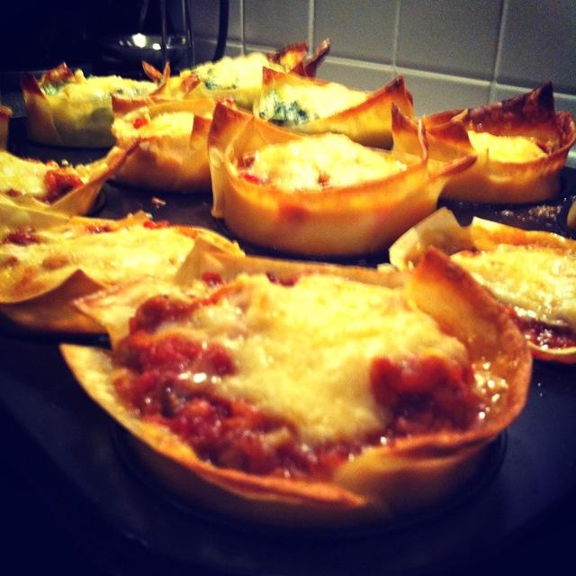 Pastamaniac: Lasagne Cups
