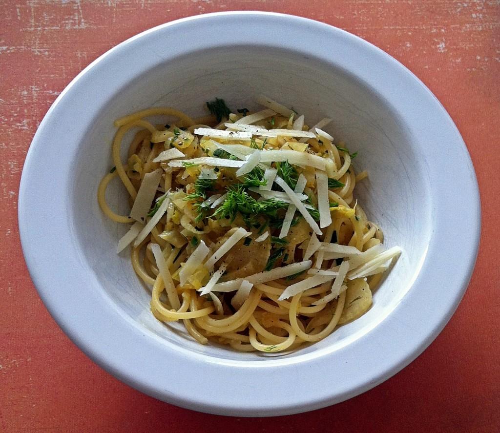 Pastamaniac: Spaghetti mit Fenchel in Orangensauce
