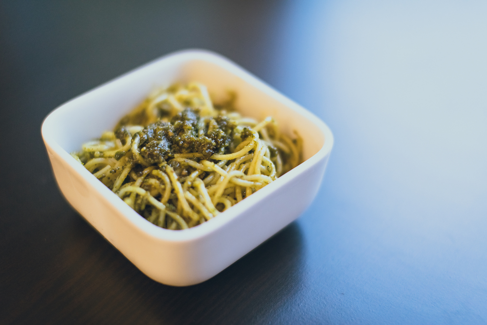 Pastamaniac: Spaghetti mit Pistazien-Pesto