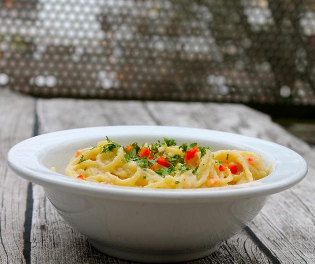 siktwinfood: Spaghetti mit Blumenkohlcreme