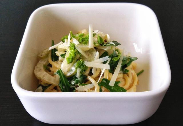 siktwinfood - Spaghetti mit Fenchel, Bärlauch und Rauke