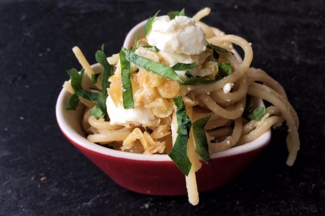 Pastamaniac- Spaghetti mit Linsen und Schafskäse