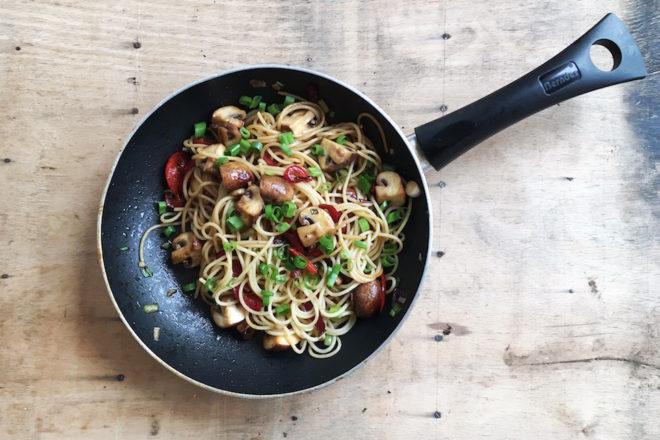 Pastamaniac - Spaghetti mit Paprika und Champignons