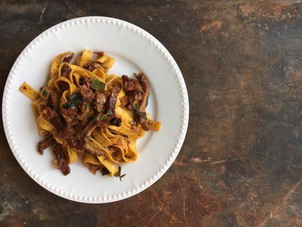 Rezept: Saltimbocca mit Nudeln