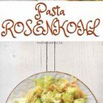 Rezept: Pasta mit Rosenkohl, Peperoni und Zitrone. Vegetarisch