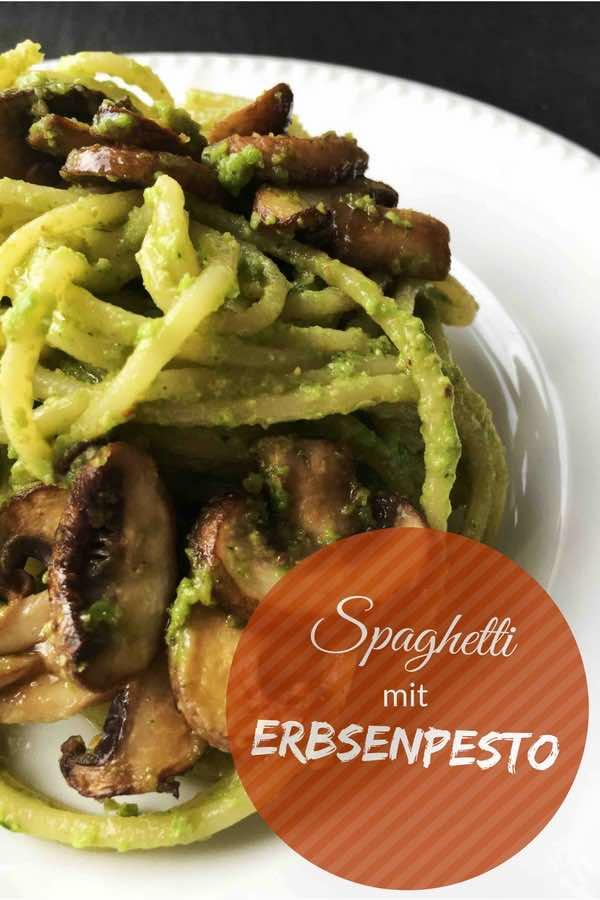 nudeln mit erbsen pesto und pilzen veganes nudel rezept pastamaniac. Black Bedroom Furniture Sets. Home Design Ideas