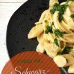 Spaghetti mit Schwarzwurzeln und Petersililenöl, vegetarisches Rezept