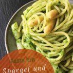 Bärlauch-Pesto mit Spargel, vegetarisches Nudelrezept